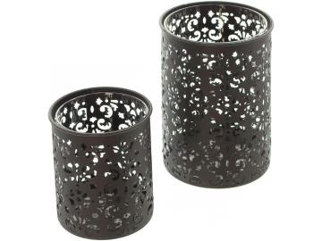 Metall-Windlicht-Paisley, 2er Set