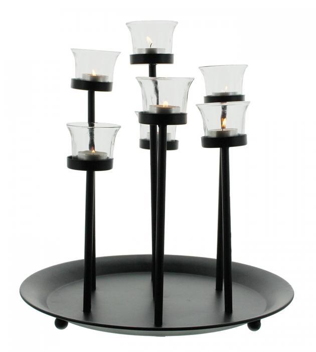 Metall-Tablett Windlichter