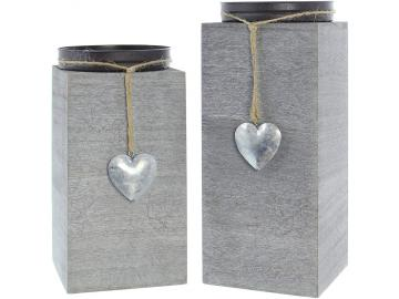 "Kerzenhalter ""Little Heart"", 2er Set"